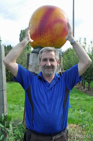 Alles Apfel! Bei Obstbauer Markus Werner fließt in diesen Tagen der Most in Strömen aus der Presse.