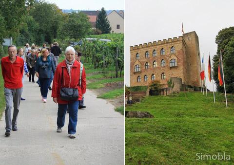 Sportlich: der steile Aufstieg zum Hambacher Schloss.