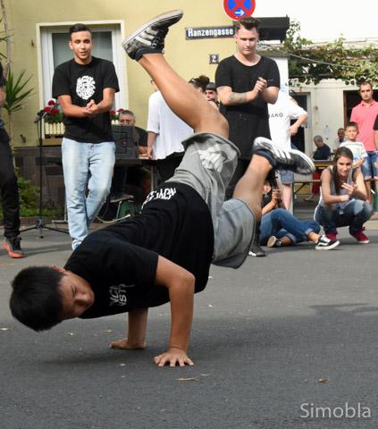 Akrobatisch: Hip-Hop.