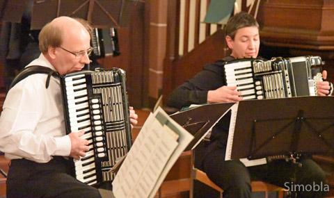 Manfred Klepper und Simone Polata spielten ein anspruchsvolles Duett.