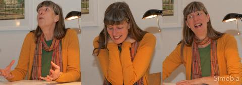 Sie hat erkennbar Spaß am Vortrag: Silke Wustmann untermalt ihre Ausführungen mit lebendiger Mimik.
