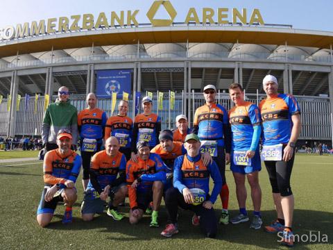 Triathleten des Kanu-Clubs beteiligten sich am Frankfurter Halbmarathon. Foto: Verein