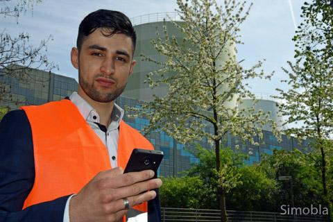 Mohamed Amhamdi ist einer der Geruchsmesser. Fotos: Sittig