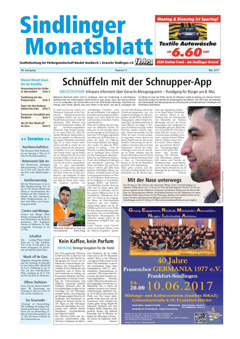 Sindlinger Monatsblatt Mai 2017