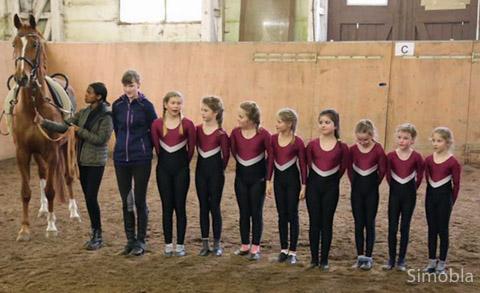 Die Voltigierkinder des Reitervereins demonstrierten ihren Sport in der Reithalle.