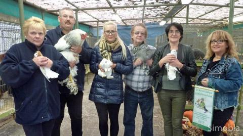 Ausgezeichnet für ihre züchterischen Leistungen wurden (von links) Conny Schmid, Werner Schmid, Marina Schmid, Winfried Schmitt, Fikreta Latovic und Samira Latovic. Foto: Heide Noll