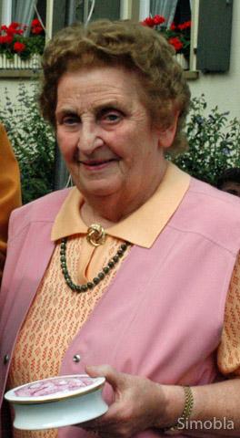 Margarete Karell 2007 bei der Verleihung der Ranzenbrunnenauszeichnung. Archivfoto: Sittig