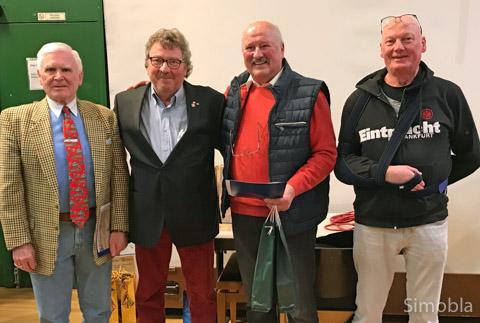 v.l.n.r. Werner Ulrich ( 60 ), Jochen Dollase, Karl-Dieter Becker ( 60 ), Ulrich Schlereth