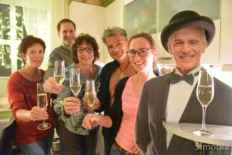 Prost auf einen schönen Abend, wünschten sich die Teilnehmer.