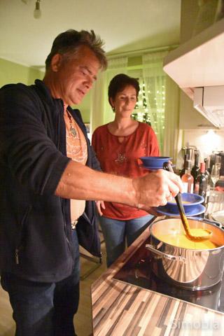 Ein scharfes Süppchen servierten Vico und Annette Pfeifer.