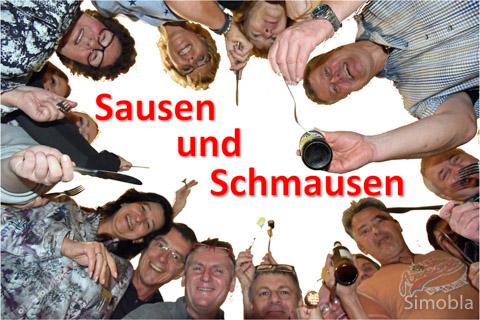 Prost Mahlzeit! Sindlinger hatten Spaß am Schlemmen und Rennen. Fotos: Michael Sittig