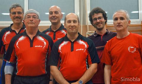 Tischtennis die Erste: (von links) Thomas Vernaleken, Rudolf Friedrich, Edwin Reinhardt, Andreas Förster, David Krämer, Gerald Hart.