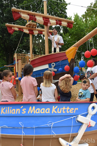 """""""Kilians Maaa Kutter"""" liegt jetzt sicher im Hackschnitzelhafen von St. Kilian. Fotos: Michael Sittig"""