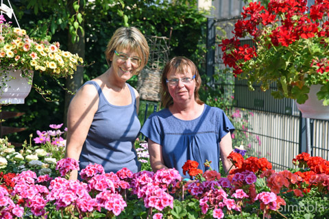 Die Floristinnen Andrea Neder (rechts) und Regina Schwab sowie Kollegin Anne-Katrin Römisch versorgen die Sindlinger mit wunderbaren Blütenarrangements. Foto: Michael Sittig